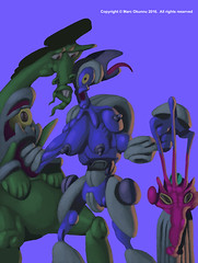 cartooo reloaded (Marc Okunnu) Tags: blue colorful surreal colourful evils manipulate unhinged