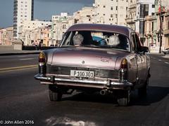 Cruising the Malecn: ONE (John E. Allen) Tags: havana cuba automobiles malecn oldhavana johnallen lumixgx8