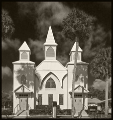 Greater Union First Baptist Church 2016 #5 (hamsiksa) Tags: wood black architecture florida 19thcentury churches sacred baptist protestant carpentergothic africanameican