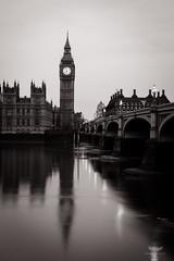 Big Ben Clock Tower and River Thames, London, UK (ralfmartini805) Tags: uk bw london monochrome blackwhite bigben clocktower