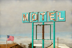 American Retro Motel Sign (Striking Photography by Bo Insogna) Tags: old signs classic texture sign rust colorado teal rustic rusty motel retro jamesinsogna