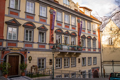 Alchymist Hotel Prague Castle (romanboed) Tags: street leica castle facade hotel czech prague prag praha praga m summicron 28 accommodation bohemia mala suites praag 240 strana alchymist snemovni
