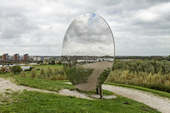 Mirror mirror on the hill (R. Engelsman) Tags: netherlands mirror outdoor spiegel hill nederland heuvel barendrecht koedood