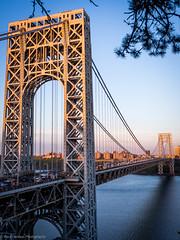 GWB, Another Rendition (ravi_pardesi) Tags: nyc usa ny newyork beautiful architecture photography evening twilight outdoor dusk nj bridges serene georgewashington gwb eastcoast photooftheday tristate primeshot