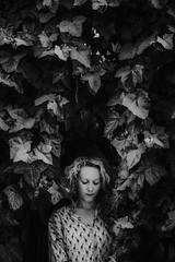 her in the ivy (Zanthia) Tags: portrait bw italy rome female spring ivy blonde sw alina weddingphotographer weddingphotography wayupnorth destinationweddingphotographer chrisalinaphotography wwwchrisandalinacom weddingphotographyconference