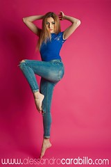 Jump  (Alessandro Carabillo') Tags: portrait italy woman color girl fashion studio jump nikon dancer fresh jeans cover blond sicily casual salto alessandro modella lampista strobist carabillo
