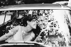 C&A (Yuliya Bahr) Tags: wedding blackandwhite bw reflection love smile car wow happy groom bride couple soft together unfocused glas tender hochzeitsfotografstuttgart hochzeitsfotografbayern hochzeitsfotografitalien hochzeitsfotografberlinhochzeitsfotograftirol