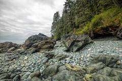 Chin Beach (photobydave@gmail.com) Tags: ocean seascape beach weather rock landscape outdoors sandstone hiking britishcolumbia stormy vancouverisland trail pacificocean pacificnorthwest lowtide geology wilderness juandefuca tidepool chinbeach straitsofjuandefuca highway14 juandefucamarinetrail