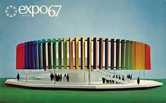 Vintage Expo 67 Postcard, The 1967 Montreal World's Fair - The Kaleidoscope Pavilion (France1978) Tags: montreal worldsfair expo67 vintageexpo67 the1967montrealworldsfair