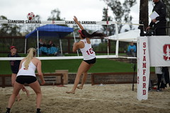 Sand in the Air (John Loo) Tags: beach 10 tournament stanford april volleyball 2016