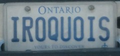IROQUOIS (Hear and Their) Tags: ontario vanity plate license iroquois