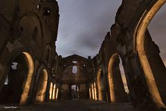 Iglesia descubierta (SoniaPerea) Tags: lightpainting abandoned night noche ruins iglesia ruinas nocturna belchite