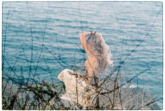 . (Khnh Hmoong) Tags: sunset portrait film sunshine analog 35mm photography doubleexposure analogue nikonfm fujic200