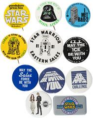 Vintage Star Wars buttons, 1977-1987 (Tom Simpson) Tags: starwars r2d2 button darthvader lukeskywalker artoo maytheforcebewithyou