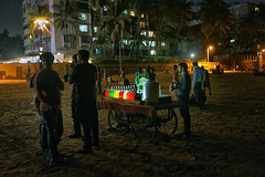 Versova Juhu Chowpatty Mumbai By the beach (kkfp) Tags: temp travel family people bw kitchen shop photography lights restaurant evening alley community locals village tea streetlights father streetphotography like son follow beaches roadside chai hawkers 2015 versova picofday instapic instagram