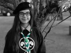 Verde de Explorador (Z Carlos) Tags: portrait verde retrato scout manualfocus focomanual explorador selectivecolour minolta50mmf17 escuteiro corselectiva darktable