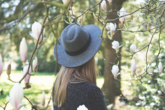 Spring is when lifes alive in everything... (CarolienCadoni..) Tags: flower hat photography spring blossom bokeh sony magnolia 50mmf14 sal50f14 sonyslta99