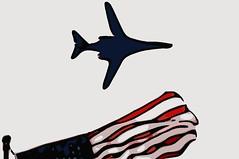 B-1B Vector (sjrankin) Tags: plane airplane edited jet bomber usaf processed vector usflag filtered unitedstatesairforce b1b vectorized 20april2016
