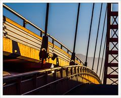 When a Red Bridge turns Golden (amanessinger) Tags: bridge river austria krnten carinthia villach drau manessingercom