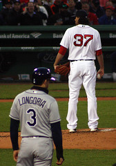 No pressure, Heath Hembree (ConfessionalPoet) Tags: baseball redsox 3b firstbase rhp baserunner reliefpitcher thirdbaseman evanlongoria heathhembree
