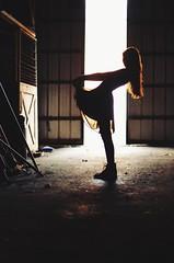 2014 (Laurene Smith) Tags: light sunset selfportrait abandoned girl barn dress