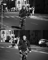 [La Mia Città][Pedala] (Urca) Tags: portrait blackandwhite bw bike bicycle italia milano bn ciclista biancoenero mirò bicicletta 2015 pedalare dittico 82254 nikondigitale ritrattostradale
