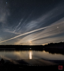 Moon Rises at Tully (Mitymous) Tags: longexposure moon night clouds moonrise moonlight tullylake reflecctions zeiss21 spring2016
