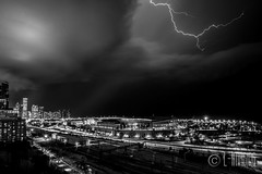 Thunder-9 (L-Imaging) Tags: sunset sky chicago weather buildings cloudy niko lightening thunder sinset weath chicagocity ligthining limaging