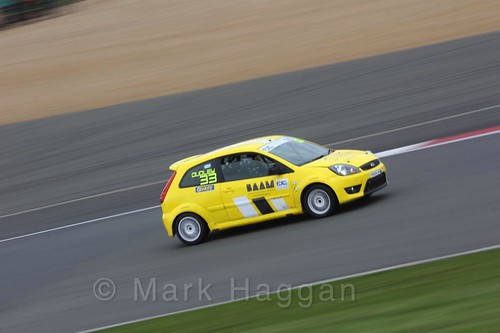 Angus Dudley in the BRSCC Fiesta Junior Championship at Silverstone, April 2016