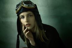 Beatrice (Luca Simonetti Photography) Tags: portrait girl beauty face lady hair head air young bella ritratto pilot aria ragazza faccia pilota volare bionda bellissima giovane avitore