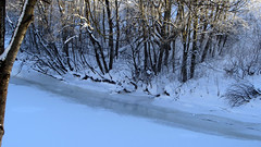 Frozen river (Sirielle) Tags: winter snow ice norway