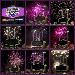 Dodger Stadium paid tribute to Prince at the ballpark last night after the game with a fireworks show to his music. (classymis) Tags: composite purple baseball fireworks prince tribute ballpark dodgers dodgerstadium princetribute fireworksfriday classymis