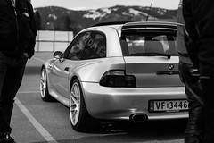 My vagon at todays meeting. (Tom-Runar Johnsen) Tags: blackandwhite car canon blackwhite bmw canon5d streetcars bmwz3 carclub moirana bmwcarclub canon2470mm bmwz3coupe