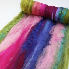 art batt 4.29 (Bee Mice Elf) Tags: art wool spinning fiber handspun batt batts beemiceelf