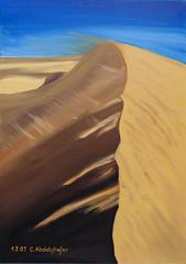 Sanddne mit Windspiel (kunstgrafik) Tags: sand wind kunst landschaft spiel dne wste leinwand lgemlde sanddne luethi zeitgenssisch abdelghafar