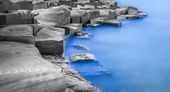 Barangaroo (Martin Snicer Photography) Tags: longexposure travel blue water stone 50mm sandstone artistic sydney australia 6d ndfilter barangaroo