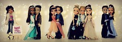Everybody wants to be at Bratz Prom 2003 (BratzCollector) Tags: 2003 dylan doll dolls bokeh formal shapes dana prom jade cameron funk sasha yasmin bratz cloe koby nevra eithan