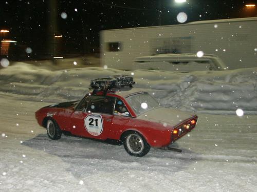 Lancia Fulvia HF  Winter Drive Alpe d'Huez 27-01-06a