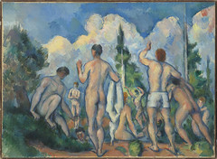 Baigneurs = Bathers (Grandiloquences) Tags: trees sky men clouds swimming landscapes baigneurs nudes skies 19thcentury malenudes bathing swimmers youngman swimsuits bathingsuits 1890s drapery bathers czanne frenchart youngmen mensclothing paulczanne postimpressionism frenchartists clothinganddress postimpressionists frenchpainters frenchlandscapists frenchpostimpressionists
