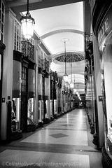 Piccadilly Arcade, London (Colin Hollywood Photography) Tags: street city uk windows england white black london glass night mono arcade piccadilly monotone shops lamps jermyn