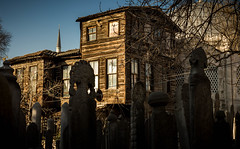Old Wooden House (vuralyavas) Tags: wood old history architecture turkey photography death wooden cityscape tomb highcontrast istanbul eyup historicalcenter