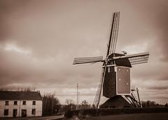 Windmill (Matt H. Imaging) Tags: netherlands windmill monochrome sepia vintage sony nederland tamron slt limburg a55 slta55v tamron18270pzd ©matthimaging
