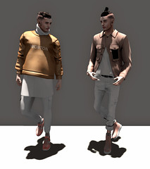 Intro . Outro (Levi Megadon // *OMG*) Tags: new male men wool look fashion shirt ink hair beard skinny blog sweater outfit clothing cool shoes pants mesh boots designer coat hipster tan salmon style blogger fresh piercing sneakers tattoos clothes sl jeans event camel jacket secondlife lp mens wonton denim turtleneck tight facial exclusive pullover loose stylish rolled speakeasy tats layered lotd cuffed bleich aitui ameriem monsieurchic