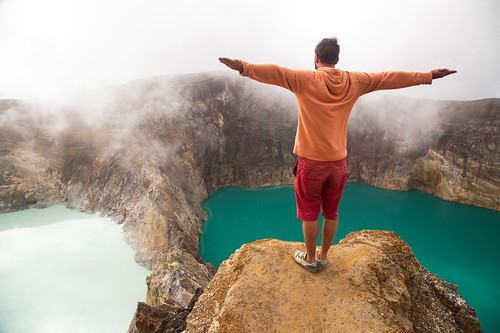 The summit of Kelimutu is one of the not to be missed sights on Flores