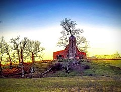 Sunset in Blount County (Baky) Tags: trees barn tennessee