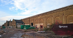 Ashford Railway Works 2016 (71B / 70F ( Ex Jibup )) Tags: bridge roof brick abandoned station stone facade buildings industrial arch structures bridges arches architectural span timbers disrepair