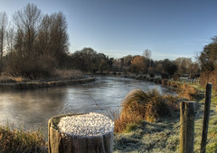 A frosty River Itchen, Near Winchester (neilalderney123) Tags: weather rural river landscape frost farm olympus hampshire winchester omd itchen em5 2016neilhoward