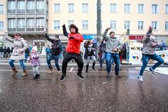 Flashmob während der 8. Meile der Demokratie 2016