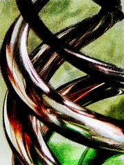 Inspiral (Steve Taylor (Photography)) Tags: brown black macro green art texture glass closeup digital spiral perspective round helix curve twisting