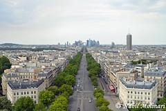 Paysage : Avenue de la Grande Armée, la Tour Maillot et l'Arche de la Défense (Nabil Molinari Photography) Tags: paysageavenuedelagrandearmée latourmaillotetlarchedeladéfense